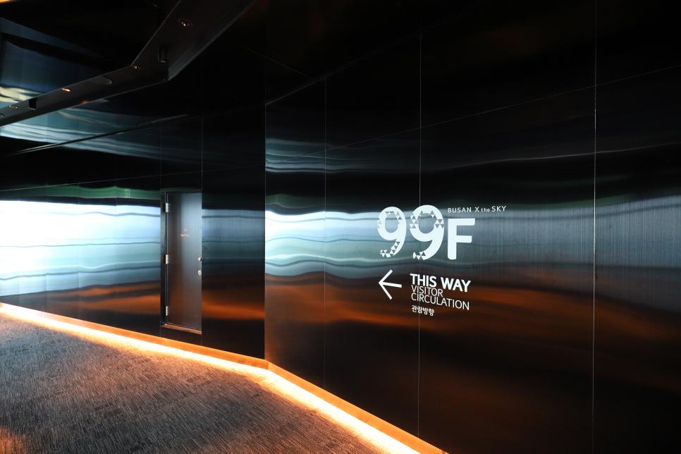 tầng 99 được thiết kế để dễ dàng ngắm nhìn cảnh Haeundae hoặc Cheongsapo