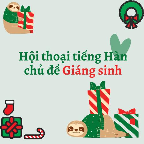 Hội thoại tiếng Hàn chủ đề Giáng sinh